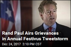 Rand Paul Airs Grievances in Annual Festivus Tweetstorm