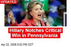 Hillary Notches Critical Win in Pennsylvania