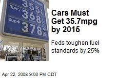 Cars Must Get 35.7mpg by 2015