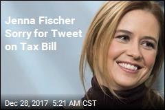 Jenna Fischer Sorry for Tweet on Tax Bill