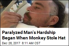 Paralyzed Man's Hardship Began When Monkey Stole Hat