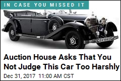 Car That Carried a Standing Hitler to Be Sold