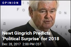 Newt Gingrich Predicts 'Political Surprise' for 2018