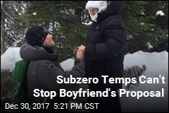 Subzero Temps Can't Stop Boyfriend's Proposal