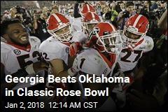 Georgia Beats Oklahoma in Classic Rose Bowl