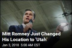 Romney Drops Big Hint at Utah Senate Run