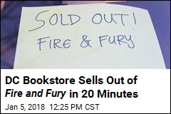 DC Bookstore Sells Out of Fire and Fury in 20 Minutes