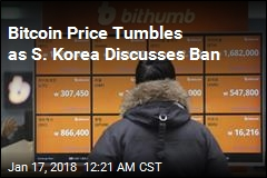 Bitcoin Price Tumbles as S. Korea Discusses Ban