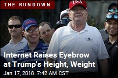Internet Raises Eyebrow at Trump's Height, Weight
