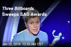 Three Billboards Sweeps SAG Awards