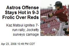 Astros Offense Stays Hot in 9-3 Frolic Over Reds