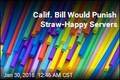 Bill Punishes Servers Who Hand Out Straws Unasked