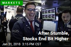 After Stumble, Stocks End Bit Higher