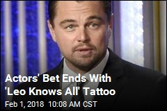 Actors' Bet Ends With 'Leo Knows All' Tattoo