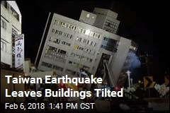 Taiwan Earthquake Leaves Buildings Tilted