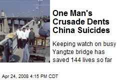 One Man's Crusade Dents China Suicides