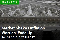 Market Shakes Inflation Worries, Ends Up