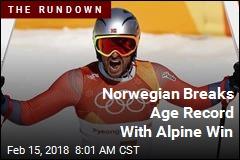 Norwegian Breaks Age Record With Alpine Win
