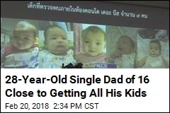 28-Year-Old Single Dad of 16 Close to Getting All His Kids