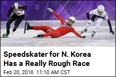 North Korean Skater's Race Does Not Go Well