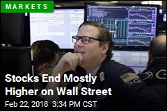 Stocks End Mostly Higher on Wall Street