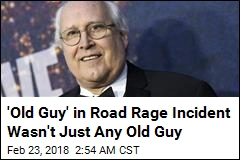 Chevy Chase Kicked in Road Rage Incident