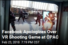Facebook Apologizes Over VR Shooting Game at CPAC