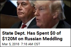 State Dept. Has Spent $0 of $120M on Russian Meddling