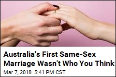 Australia's First Same-Sex Marriage Wasn't Who You Think