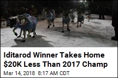 Iditarod Winner Takes Home $20K Less Than 2017 Champ