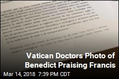 Vatican Doctors Photo of Benedict Praising Francis