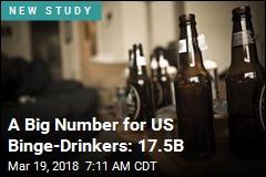 Drinks Thrown Back by US Binge-Drinkers: 17.5B Annually