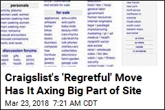 Craigslist Won't Be Home to 'Missed Connections' Anymore