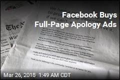 Facebook Buys Full-Page Apology Ads