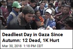 12 Dead, 1K Injured in Gaza Strip Clashes