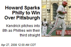 Howard Sparks Philly to Win Over Pittsburgh