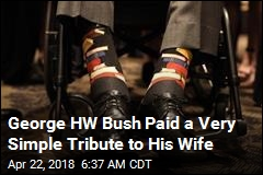 George HW Bush Paid a Very Simple Tribute to His Wife