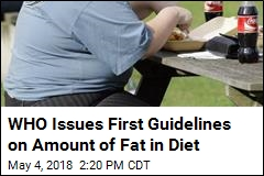 WHO: For Better Health, Keep Saturated Fat to 10%