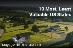 10 Most, Least Valuable US States