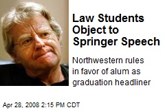 Law Students Object to Springer Speech