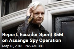 Report: Ecuador Spent $5M on Assange Spy Operation