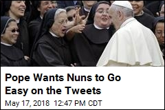 Pope to Nuns: Don't Be Distracted by Social Media