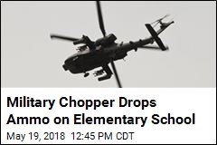 Chopper Makes Surprise Drop on Elementary School