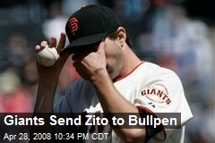 Giants Send Zito to Bullpen