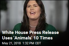 White House Press Release Uses 'Animals' 10 Times