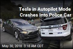 Tesla on Autopilot Slams Into Police Car