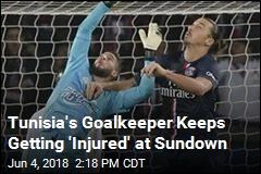 Tunisia's Goalkeeper Keeps Getting 'Injured' at Sundown