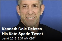 Kenneth Cole Deletes His Kate Spade Tweet