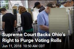Supreme Court Backs Ohio's Right to Purge Voting Rolls