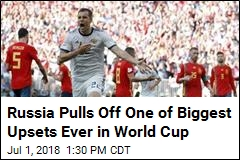 Russia Pulls Off One of Biggest Upsets Ever in World Cup